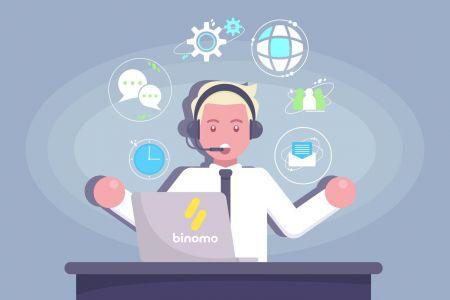 كيفية الاتصال بدعم Binomo